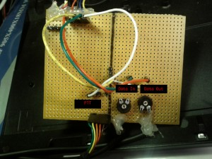Photo of a Simple audio leveler and push-to-talk circuit